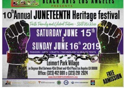 BLACK ARTS LOS ANGLES| JUNETEENTH HERITAGE FESTIVAL1