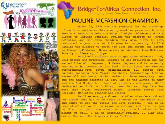 9 Pauline Mcfashion - Champion 9