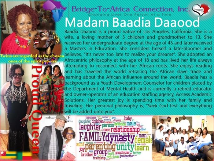 Madam Baadia Daaood