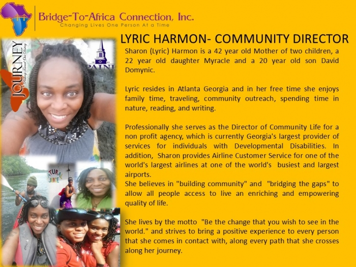 2 Sharon Lyric Harmon - Community Director